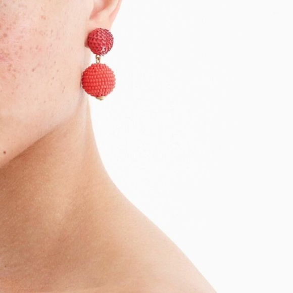 J. Crew Jewelry - J.Crew Sequin and Bead Ball-drop Earrings